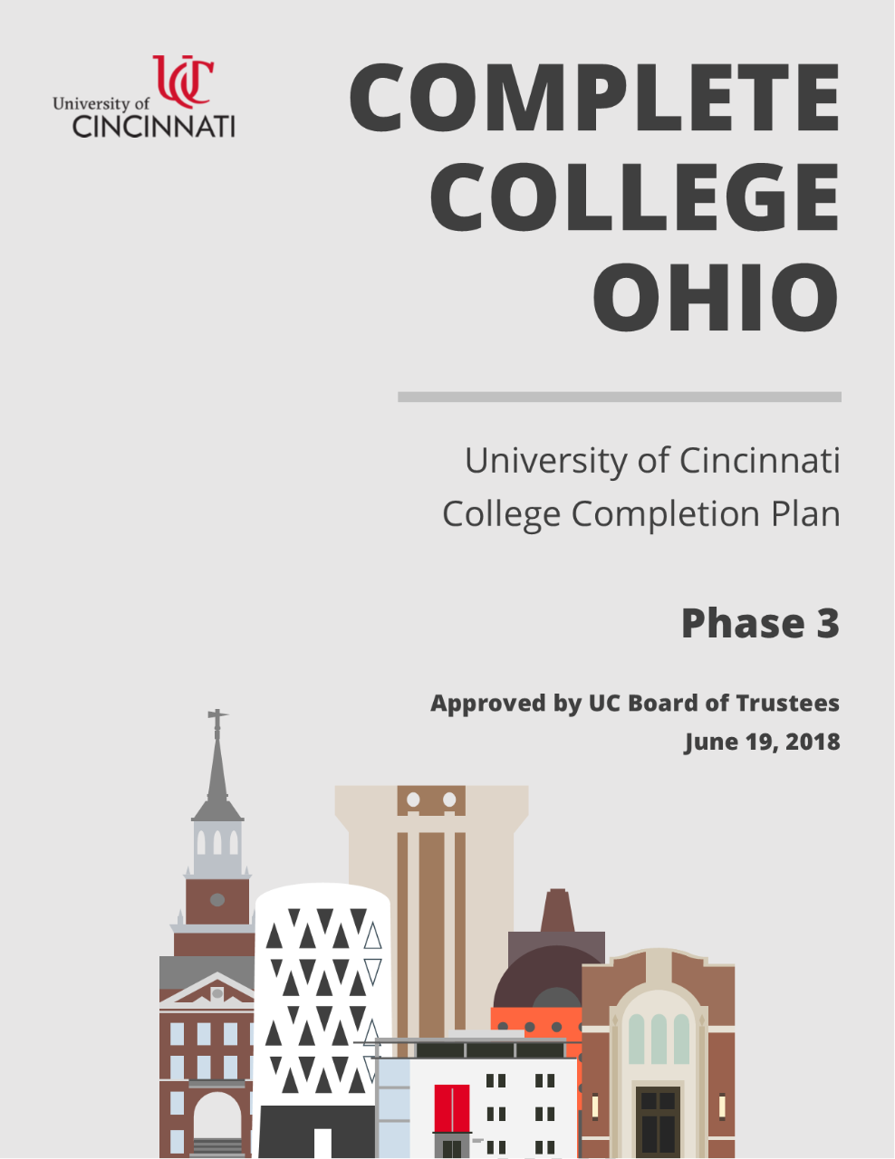 Complete College Ohio - College Completion Plan Phase 3 - June 2018