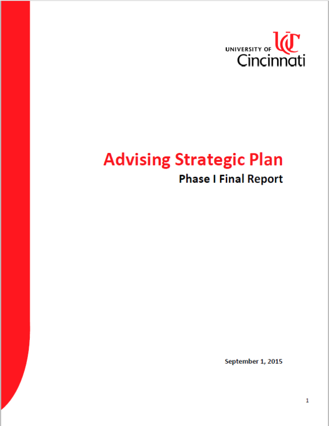 Advising Strategic Plan Phase 1 - September 2015