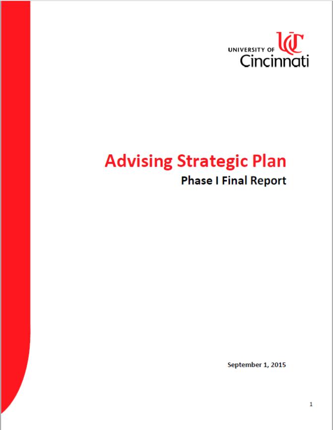Advising Strategic Plan Phase 1 - September 2015