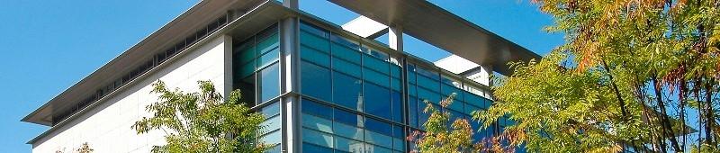 University Pavilion and blue skies