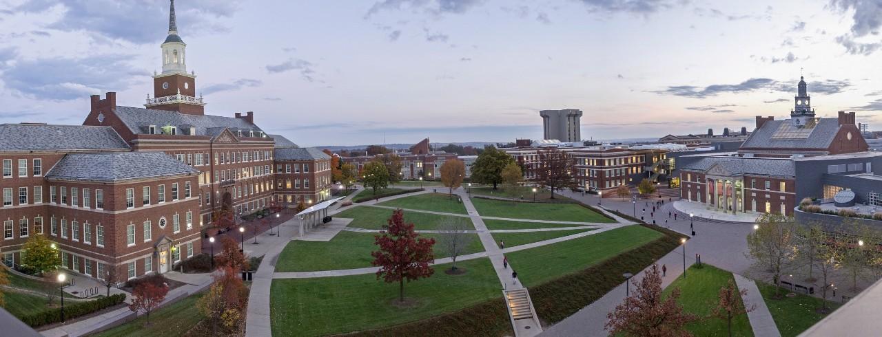 Panoramic view of the University of Cincinnati campus.