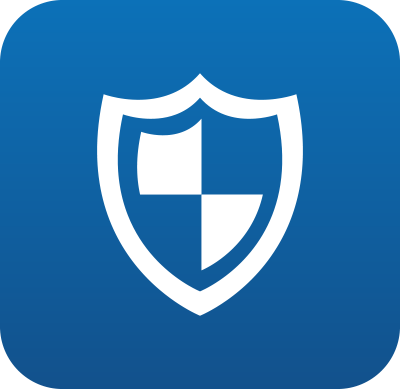 The Rave Guardian logo is a blue shield.
