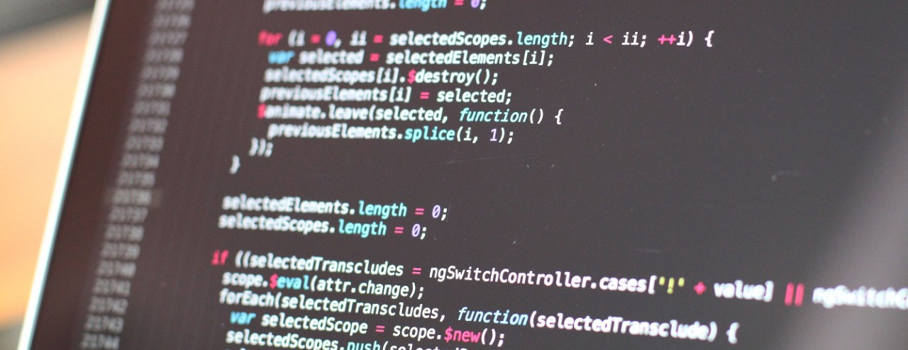 web page developer code on a computer screen