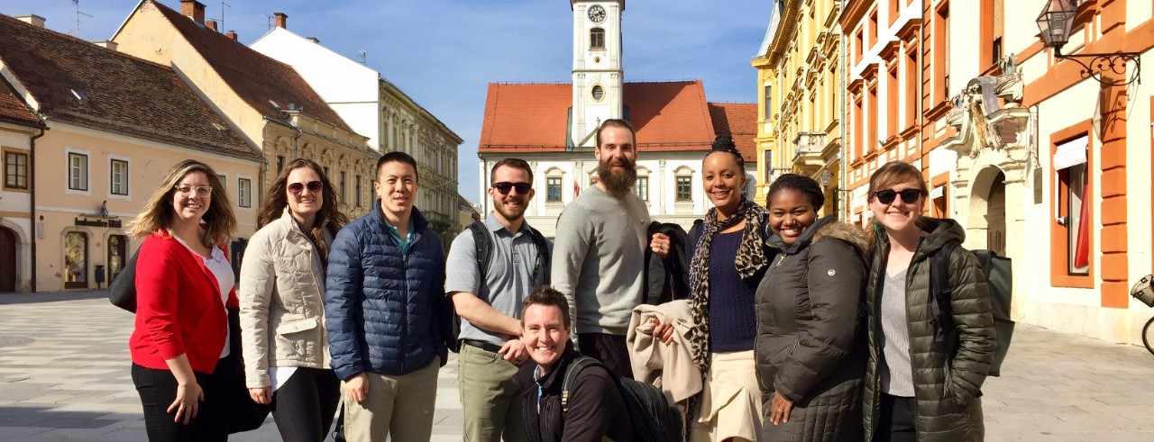 A group of University of Cincinnati advisors experience study abroad by visiting Zagreb, Croatia.