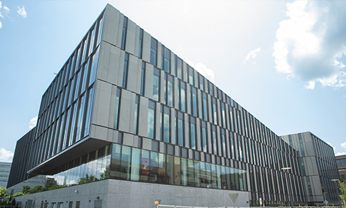 Exterior view of the new Lindner College of Business building
