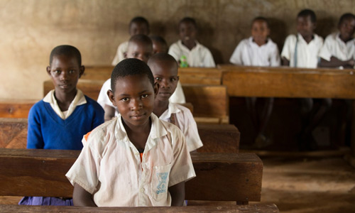 Students in a Tanzanian Classroom