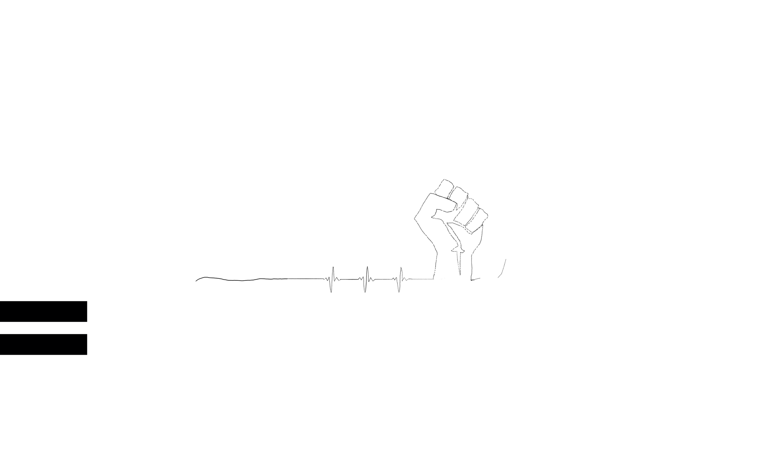 Illustration of a fist raise in protest