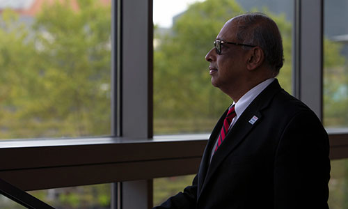 UC President Neville Pinto