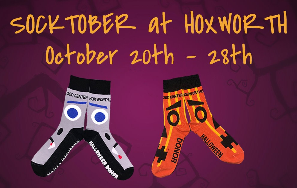 "Hoxworth Blood Center treating donors during ""SockTober"""