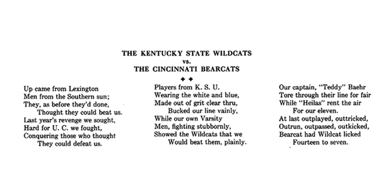 Poem from UC yearbook