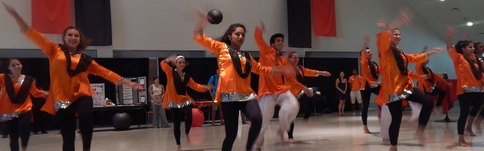 Dancers at the Asian Student Welcome