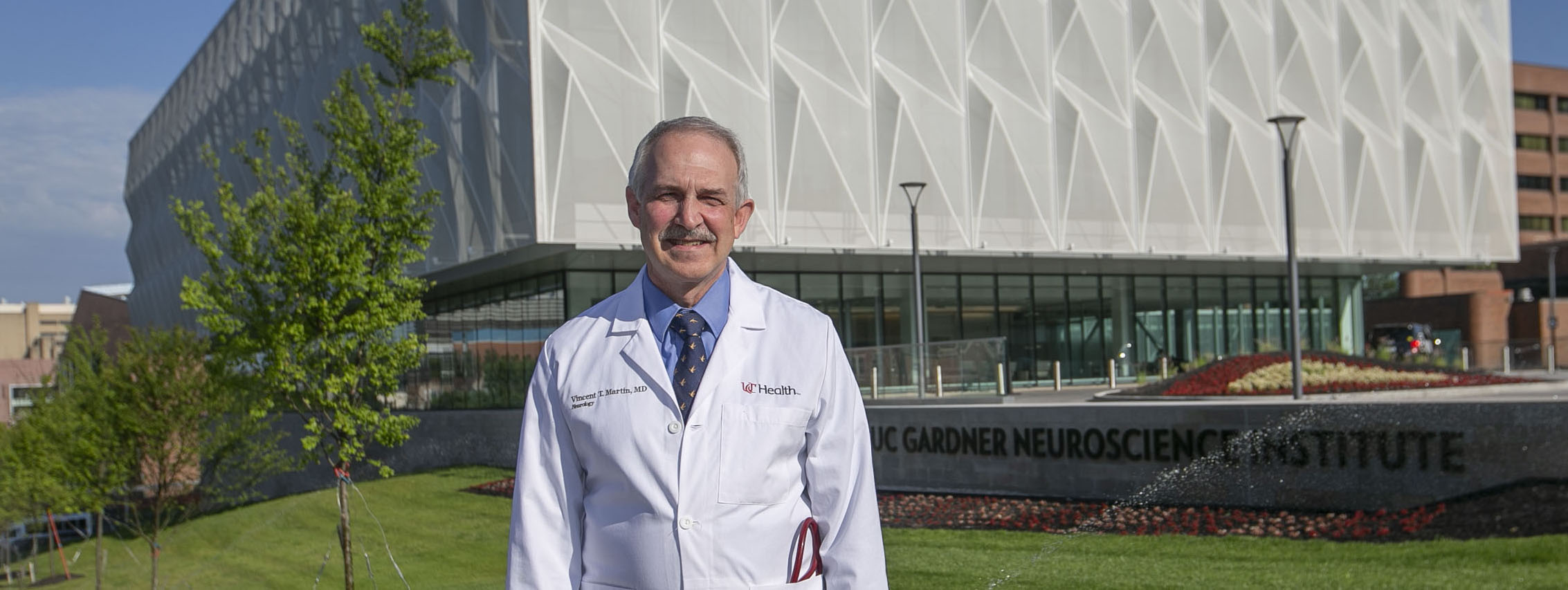 Vincent Martin, MD, shown at the UC Gardner Neuroscience Institute