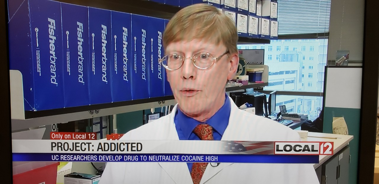WKRC-Local News 12: UC researchers develop antibody to neutralize cocaine high
