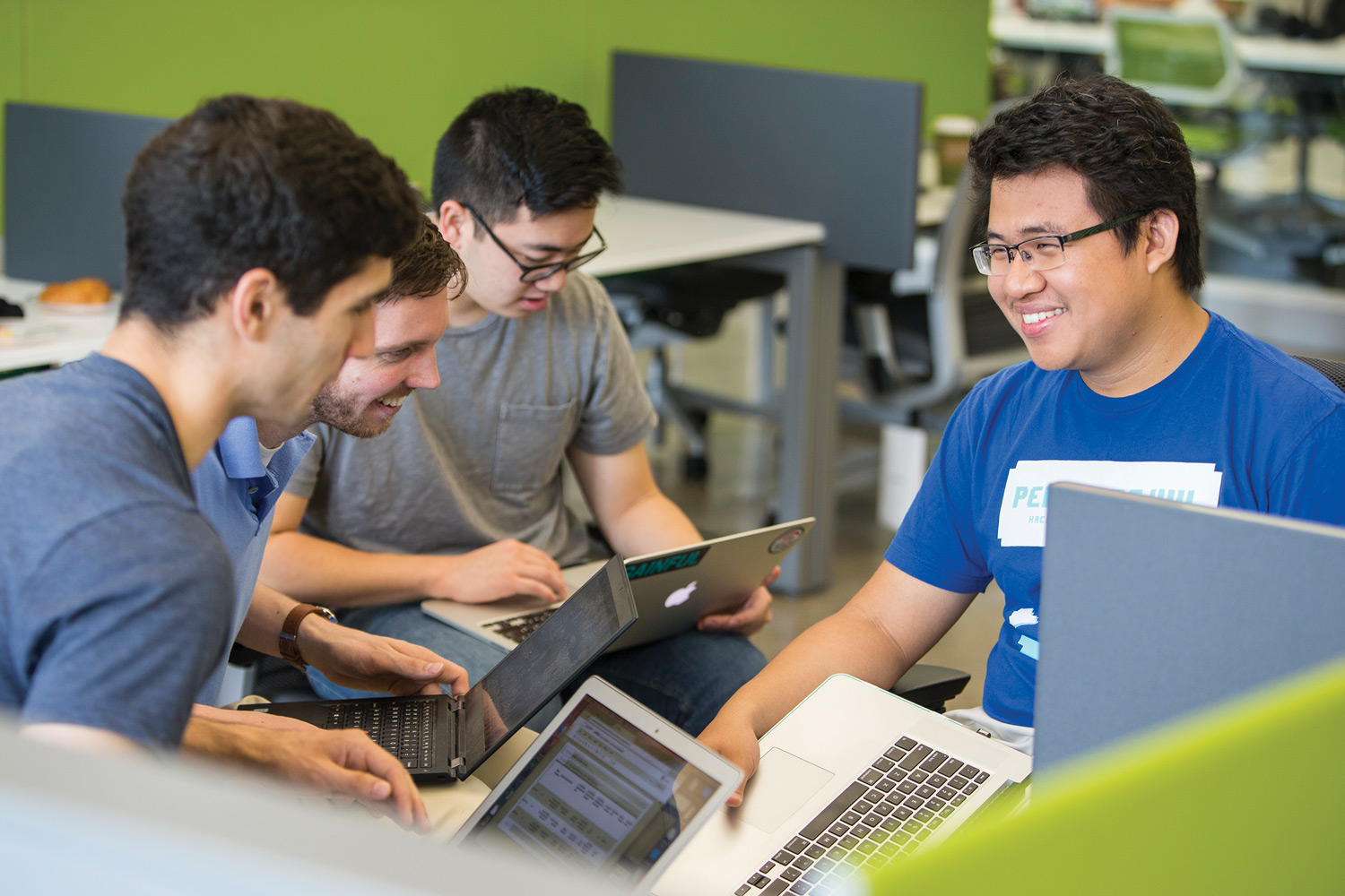 Students participate in a Hackathon