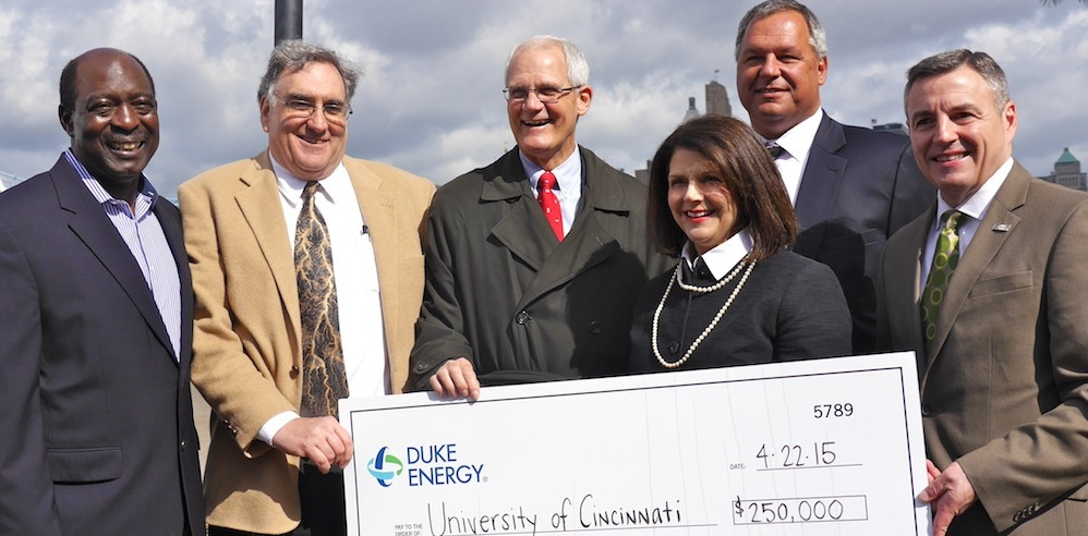 Duke Energy Officials with UC Faculty
