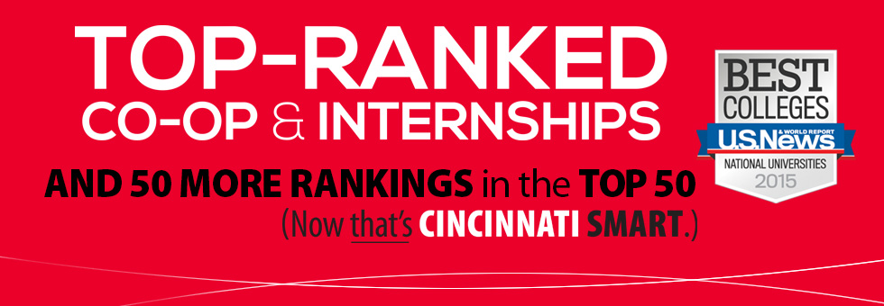 Top-ranked for Co-op and Internships graphic.