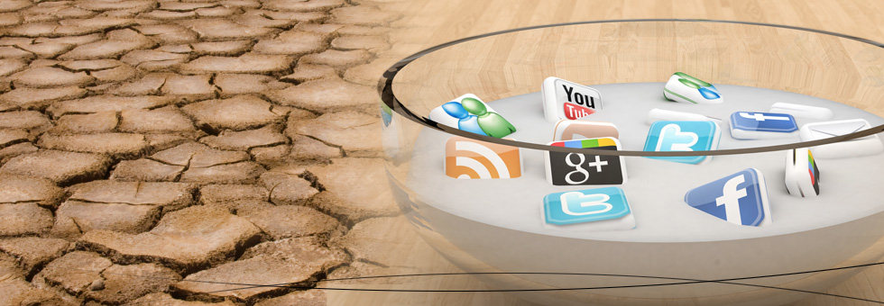 Social media graphic in desert.