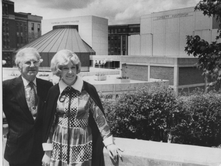 The Corbetts in front of CCM