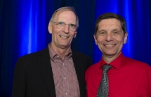 Richard Lofgren, MD, president and CEO of UC Health with Joseph Broderick, MD, director of the UC Neuroscience Institute.
