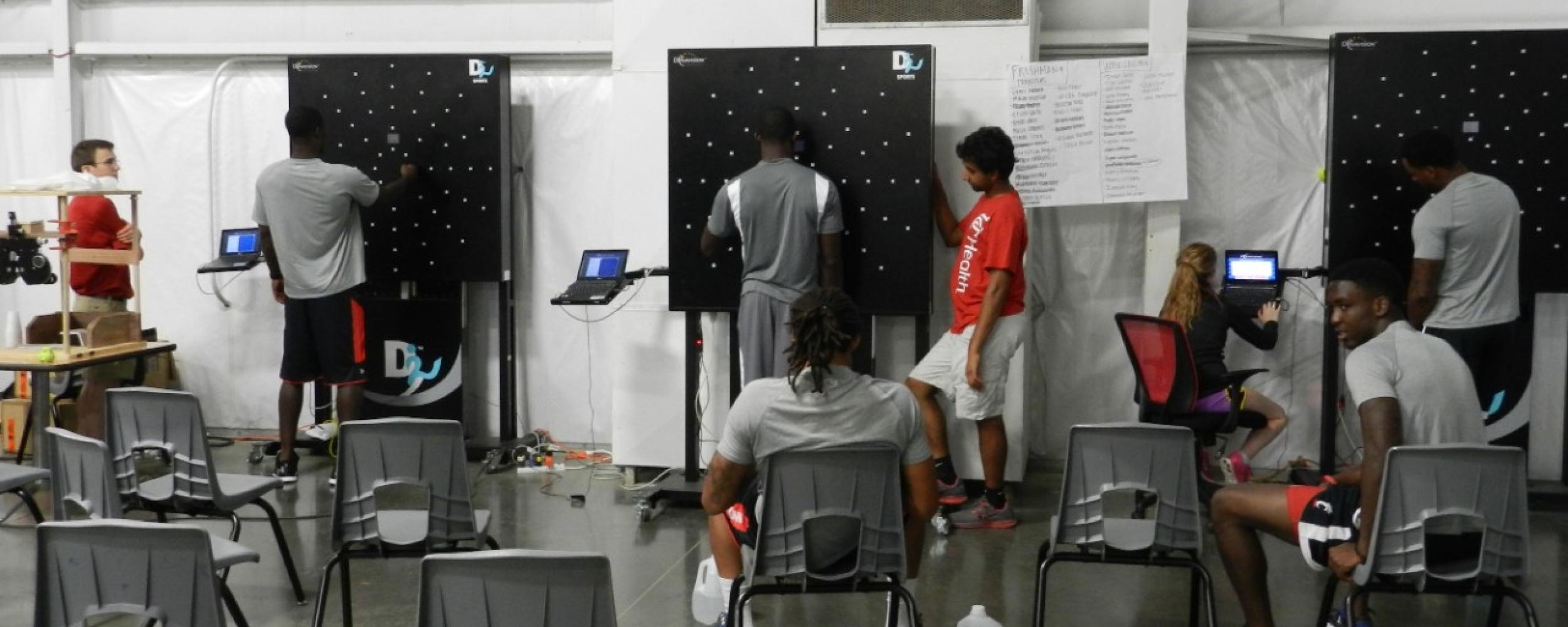 UC athletes undergo Dynavision training