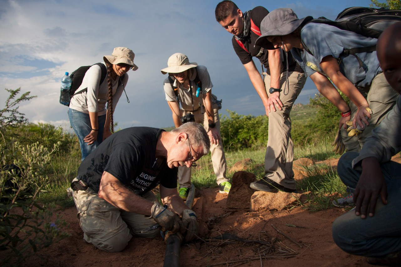 UC's Engineers Without Borders work on a water project in Tanzania