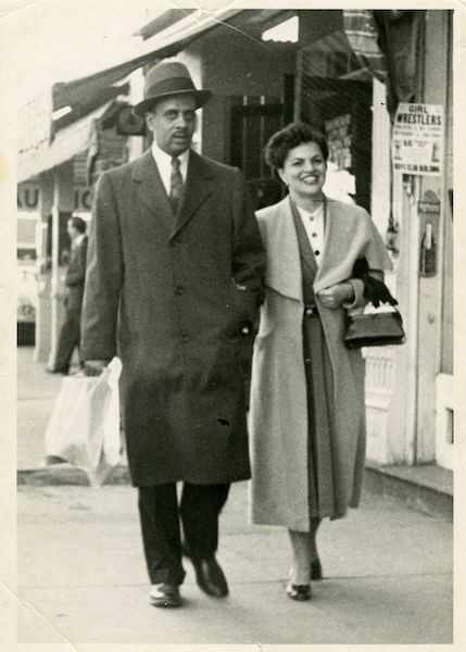 Black and white photo of Donald and Marian Spencer