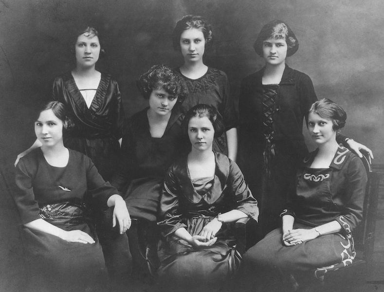 Black and white photo of first women co-ops