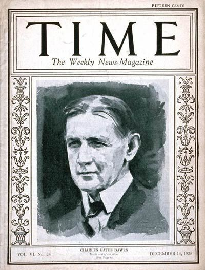 Charles G. Dawes on the cover of Time magazine