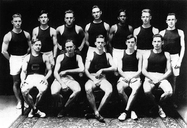 Ralph Belsinger and track team portrait