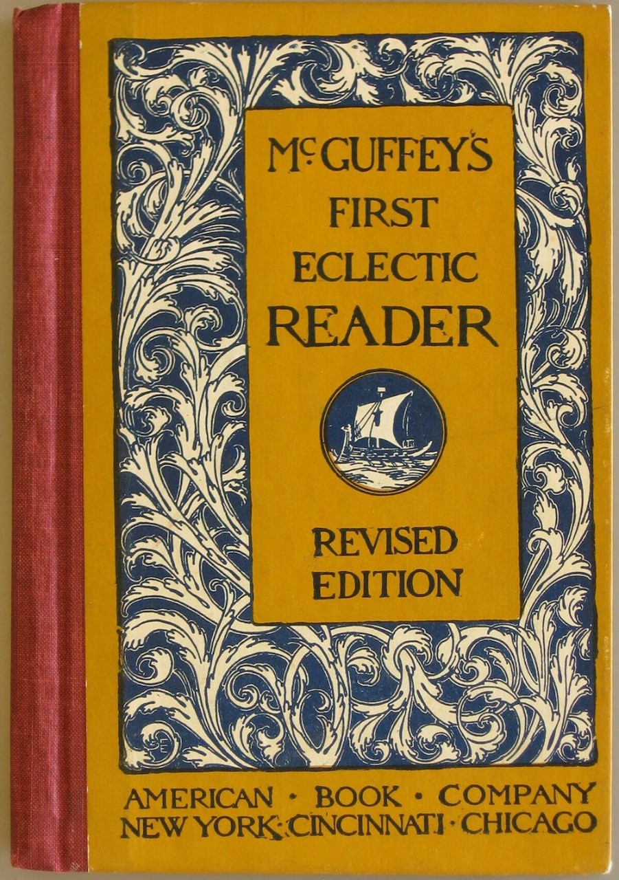 Photo of a McGuffey's First Eclectic Reader book