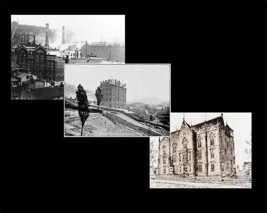Three original university buildings
