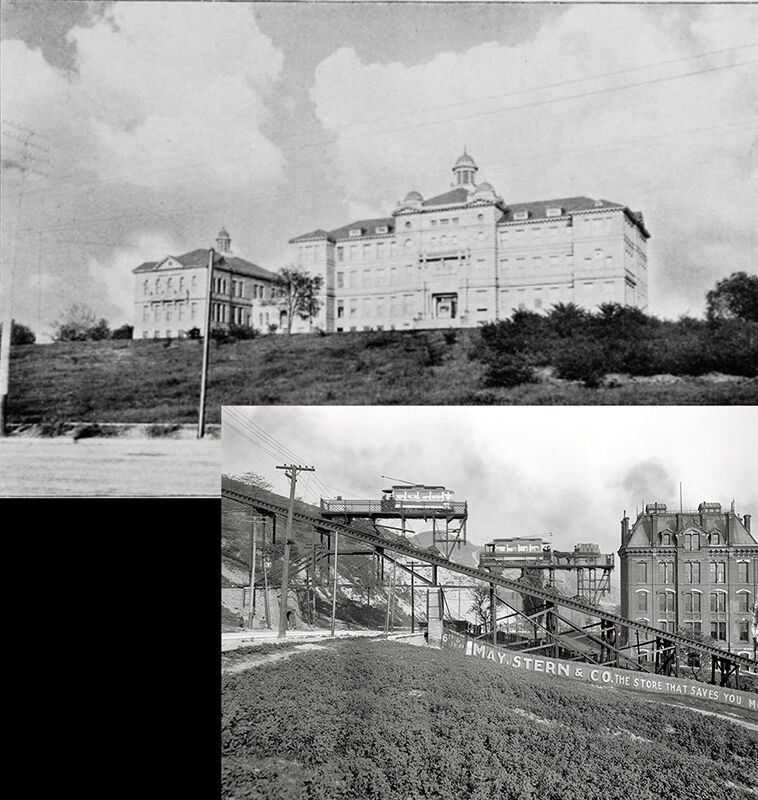 Composite image of early university buildings