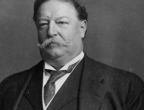black and white portrait of William Howard Taft