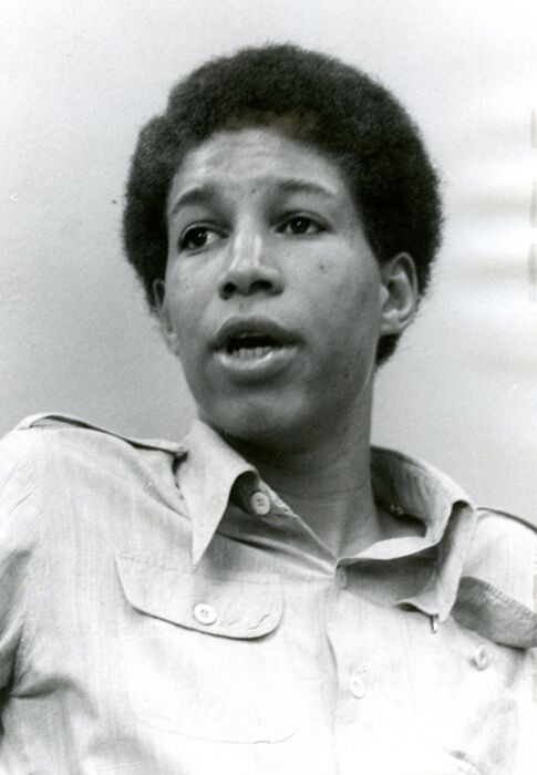 Portrait of a young Tyrone Yates