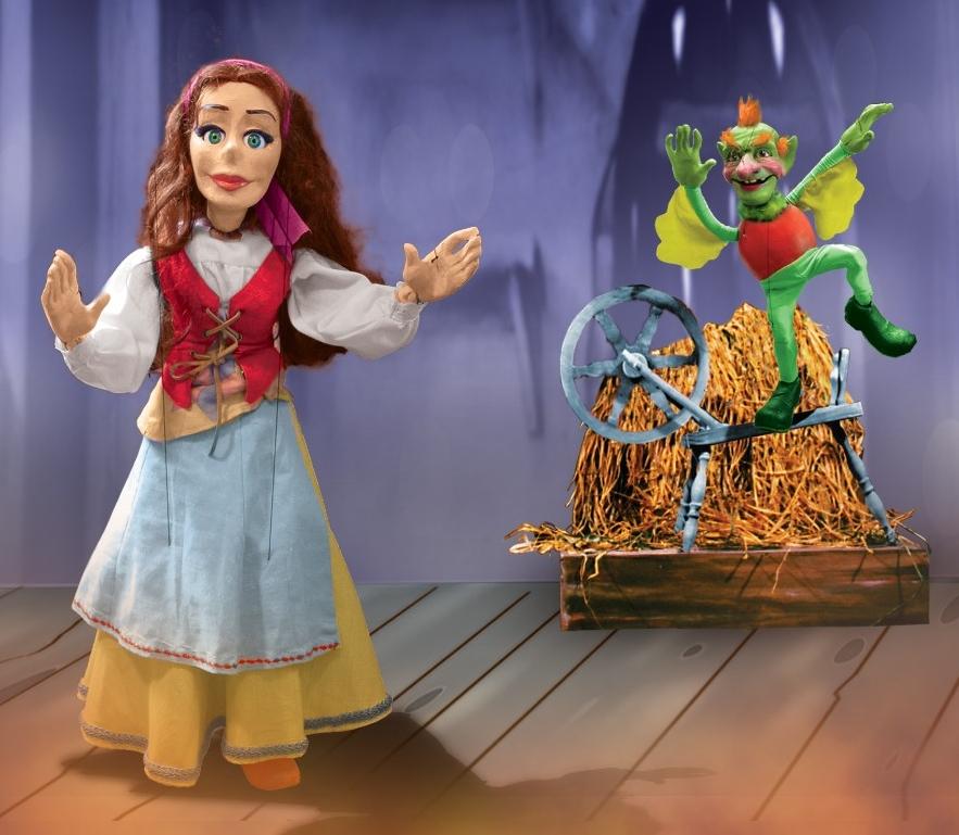 """Puppets from the Frisch Marionettes' """"Rumpelstiltzkin"""""""