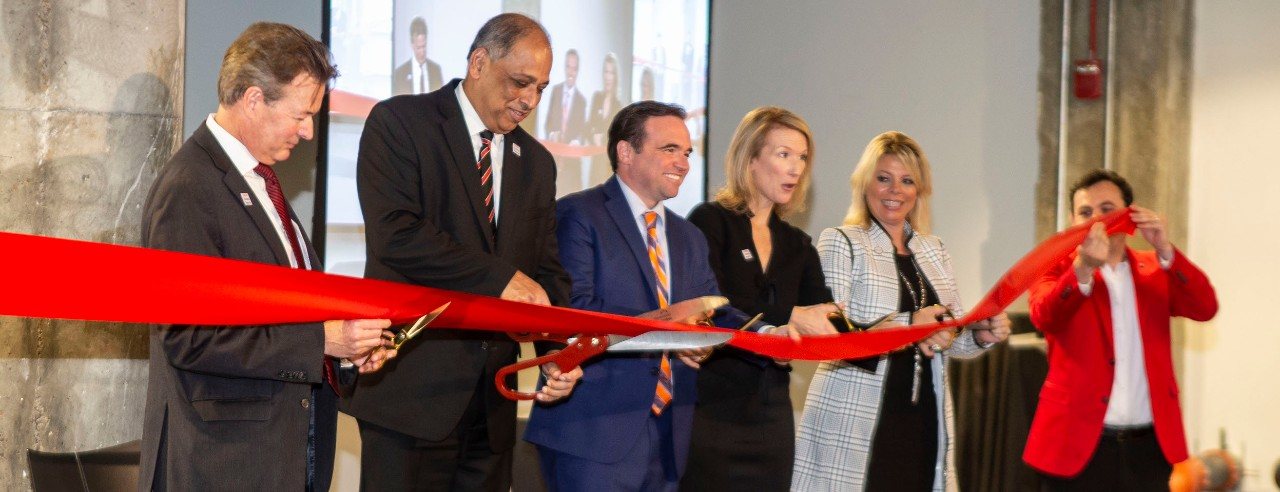 Leaders from University of Cincinnati, the city and industry officially cut ribbon to 1819 Innovation Hub