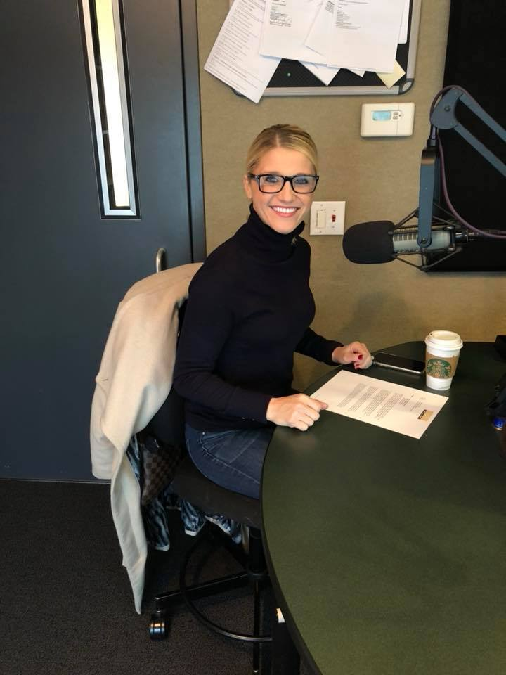 Britney Ruby Miller at her work desk.