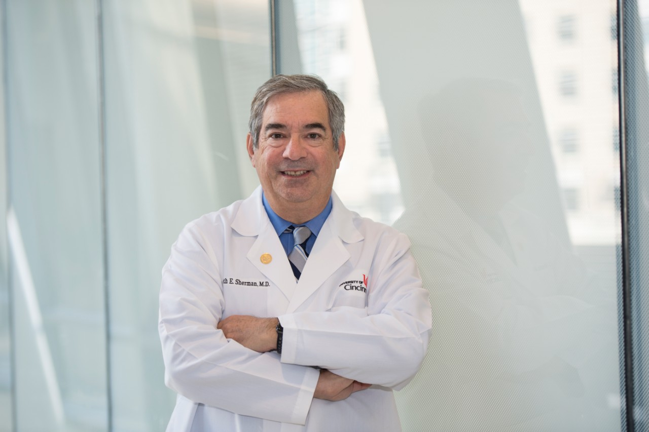 Kenneth Sherman, MD, PhD, is shown in the UC College of Medicine.