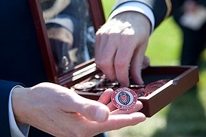 Challenge coins with UC academic seal