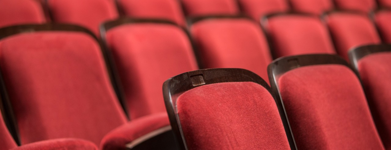 The seats in CCM's newly-renovated Corbett Auditorium.