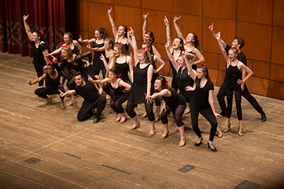 High school musical theatre students perform during CCM Prep's Year End Festival.