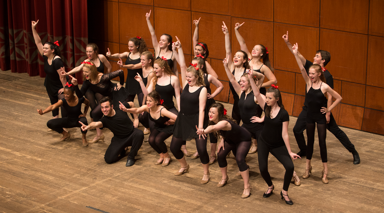 CCM Prep high school musical theatre students perform during the Year End Festival