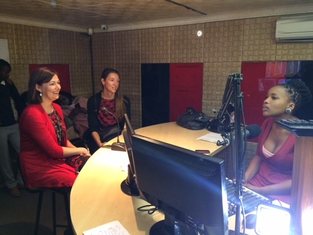 two guests are interviewed by the loveLife radio show