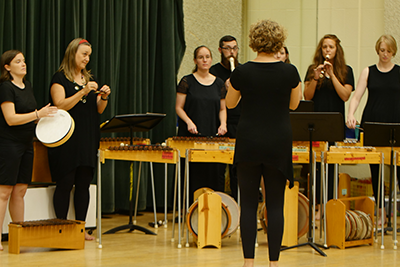 Music educators study the Orff Schulwerk approach to learning, which focuses on active music making to support child development and learning.