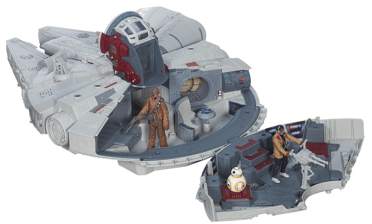 Battle action Millennium falcon designed by UC alum Mark Boudreaux