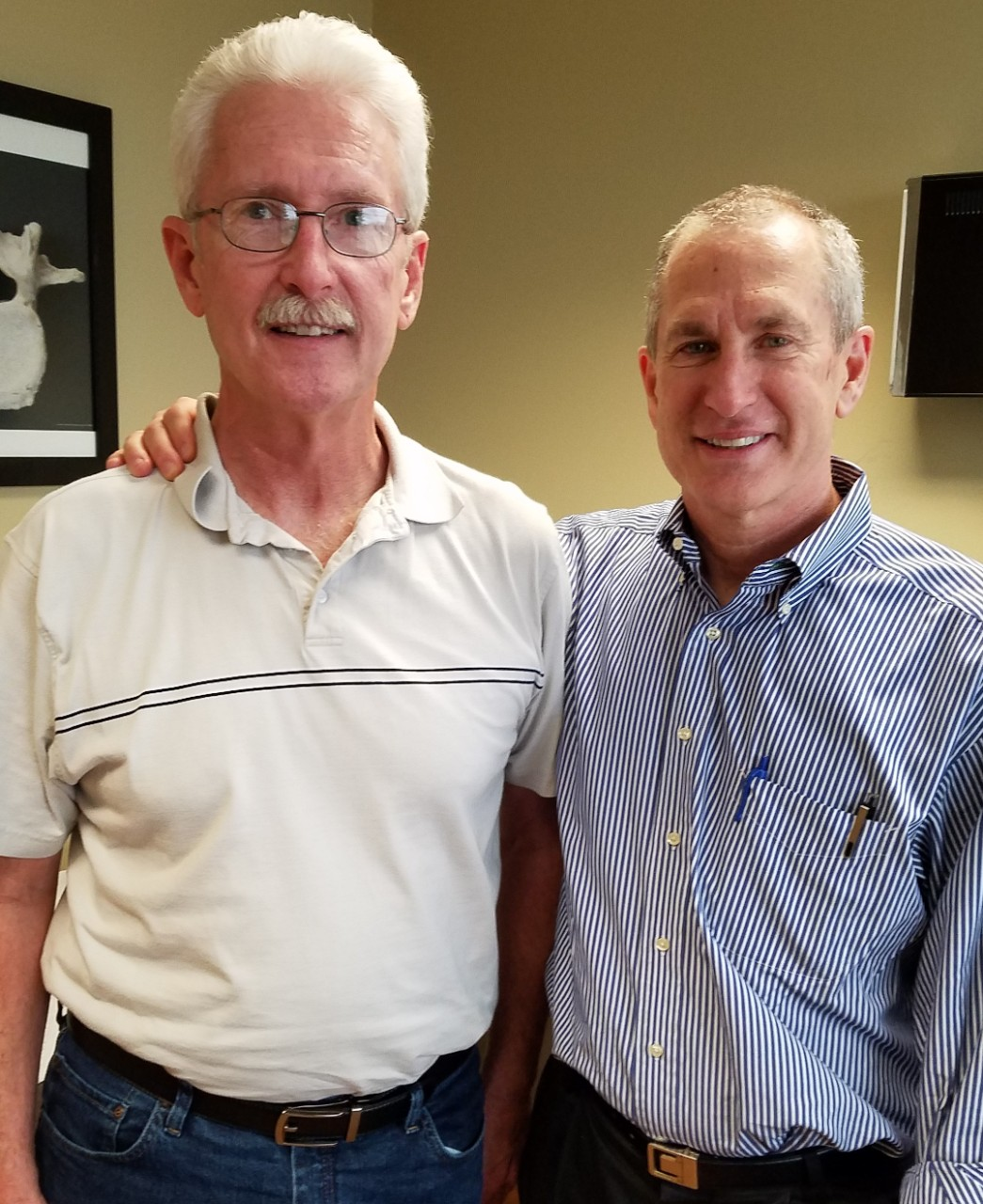 Robert Moore and John Wyrick standing together