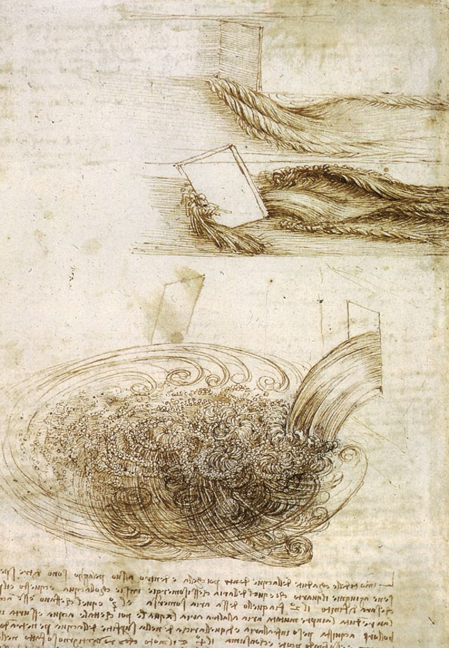 da Vinci drawings of water flow