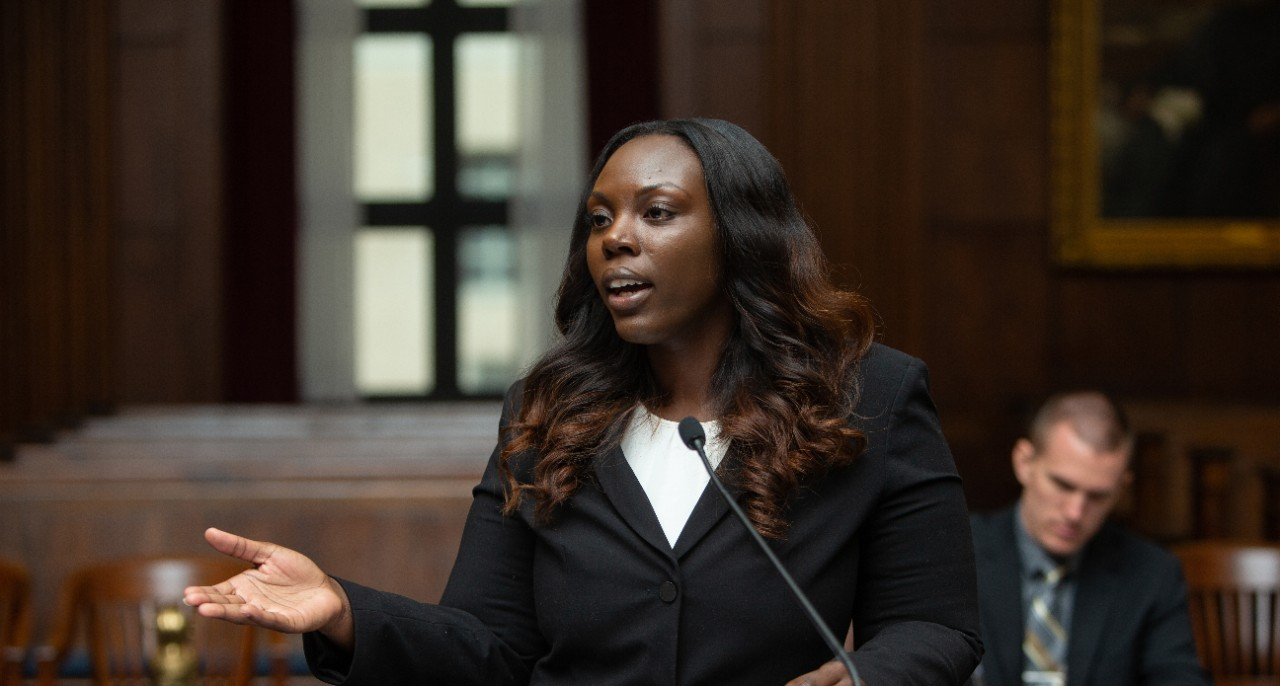 law student in court