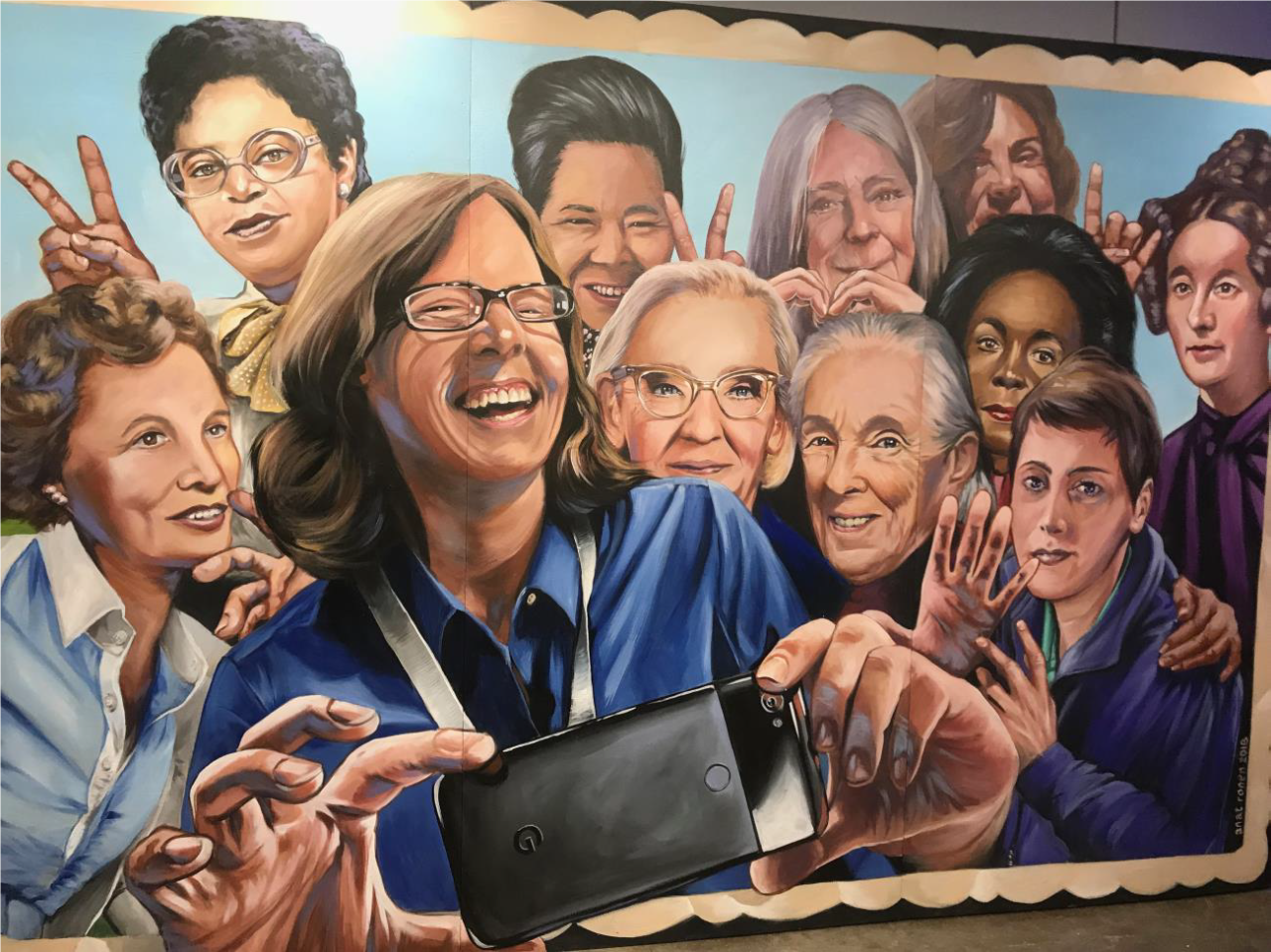 photo of women in tech mural