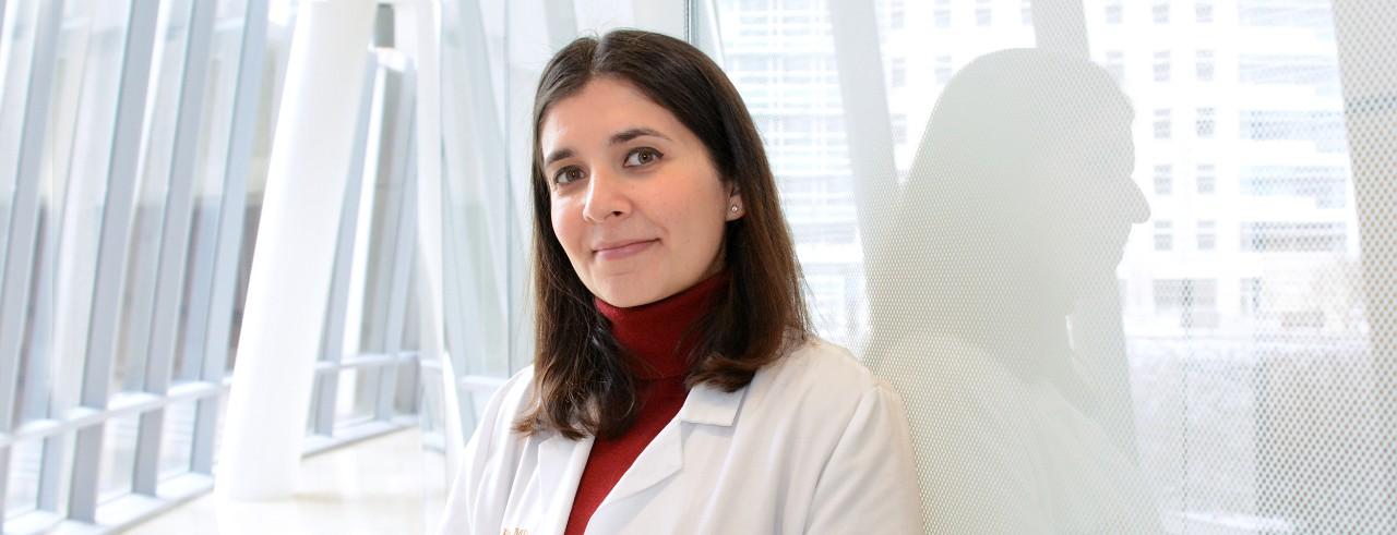 Umara Raza, MD, shown in UC College of Medicine.